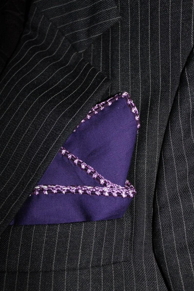 Custom Crochet Handkerchief Gentleman gift Groomsmen hanky Crochet pocket square DDBESPOKESTUDIO Suit Pocket Square Men/'s Handkerchief