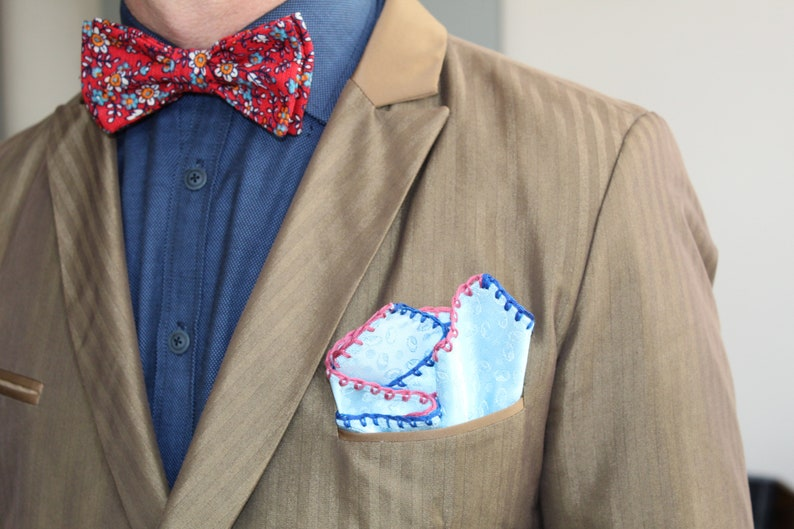 DDBESPOKESTUDIO Custom Bowtie Floral Bow Tie Party Bowtie Everyday Custom Pre Tie Gentleman/'s BowTie