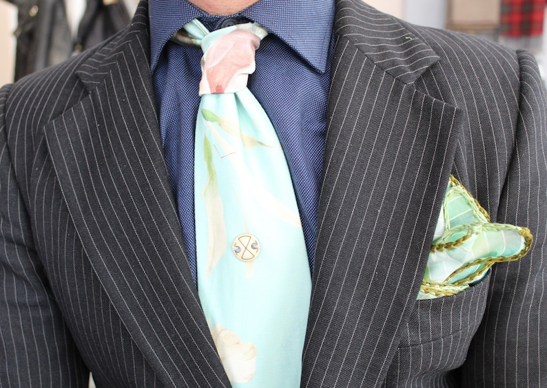 Casual Necktie DDBESPOKESTUDIO Attitude Men/'s Necktie Floral Men/'s NeckTie Everyday Mens Tie