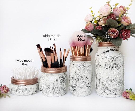 Marbre blanc bocal en marbre noir accessoires de bureau en