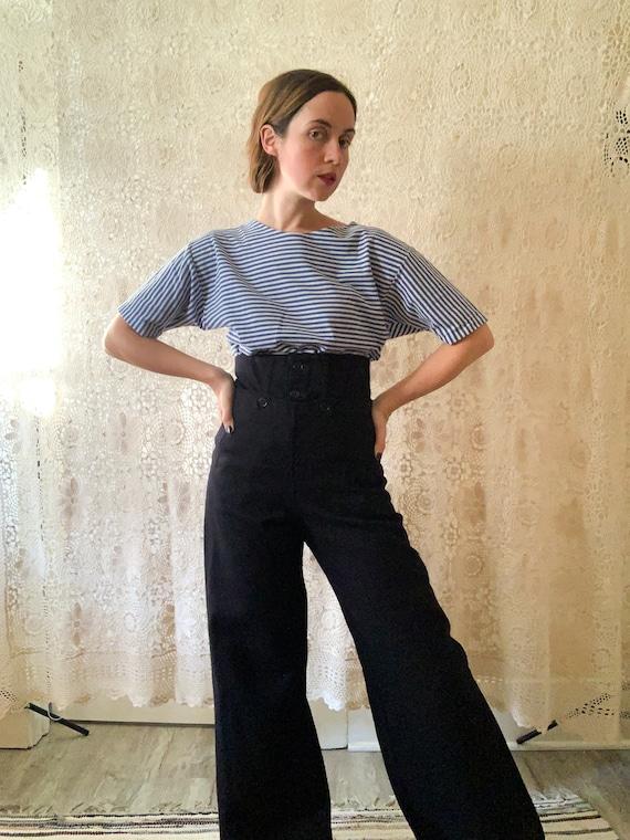 1940s Australian Navy Pants / Size Medium
