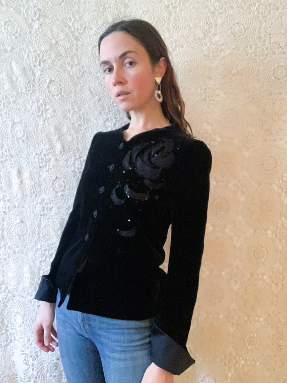 Armani Collezioni Velvet Jacket / size XS
