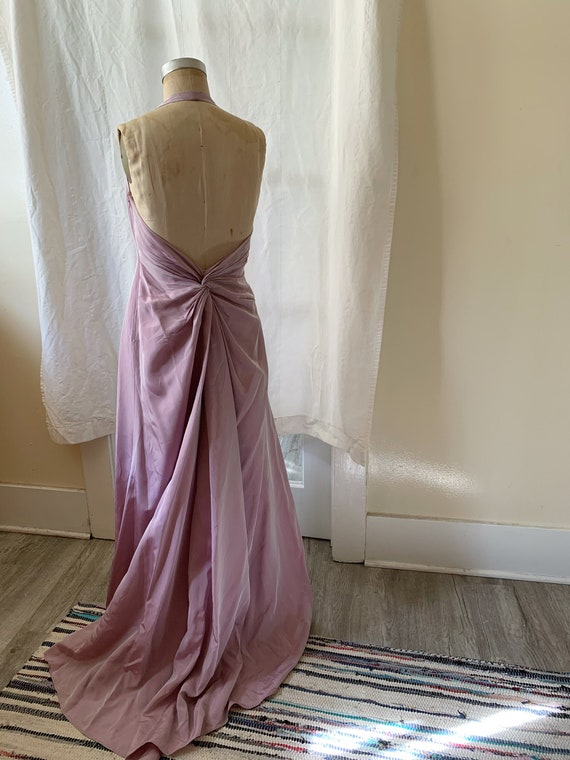 Cache Lavender Pearlescent Knotted Dress
