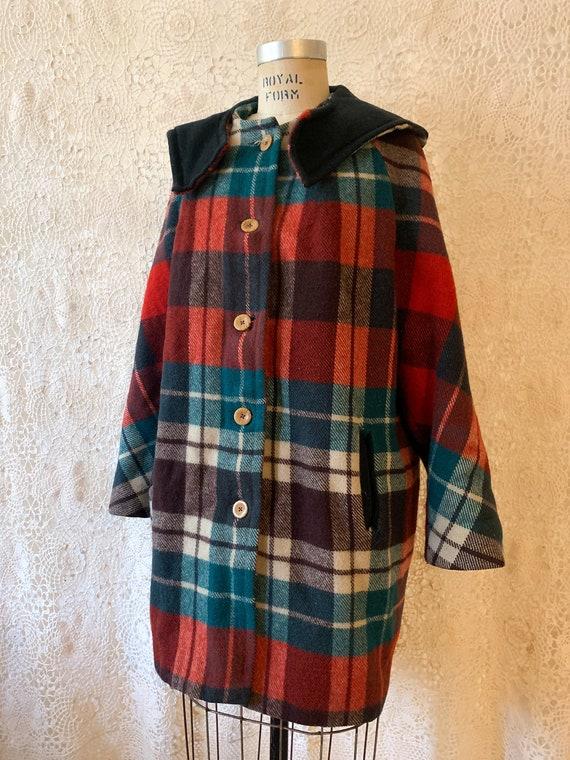 Plaid Blanket Coat / size small