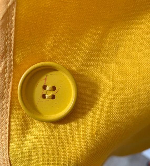 Geoffrey Beene Marigold Linen and Silk Jacket / s… - image 6