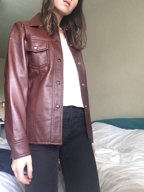 70s Vegan Leather Jacket