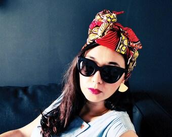 "Headwrap/Turban/Bandeau/Wrap ""Donna S."" // WAX / 100% Coton // accessoire coiffure facile // Collection MAX PE/17"