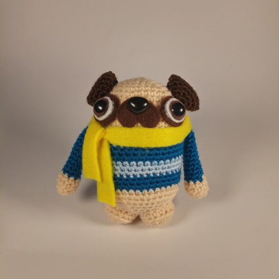 Вязаный мопс амигуруми. Crochet amigurumi pug. - YouTube ...   570x570