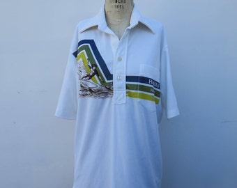 XLXXL Mens Vintage Polo 90s Campai Polo Shirt 90s Hawaii Polo 90s Hawaiian Polo Mens Hawaiian Polo Shirt Mens Vintage Clothing