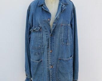 c5746cb8f20a Vintage Long Denim Jacket