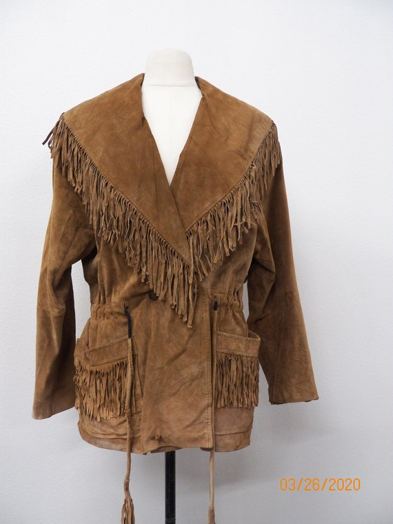 Women Suede Fringe Jacket
