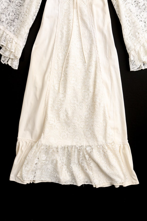 Gunne Sax Dress  Lace Sleeves Prairie Long Dress - image 10