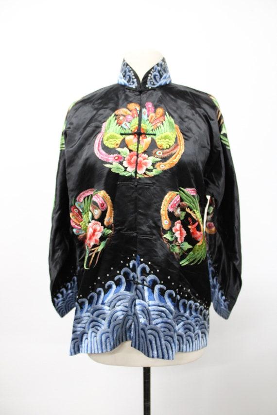 Vintage Chinese Embroidered Jacket. Cheongsam Jack