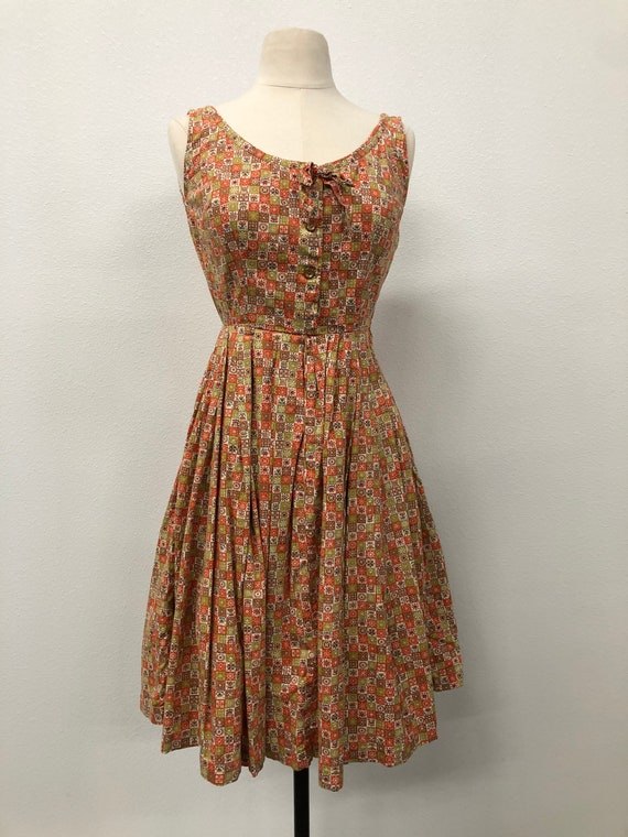 Women 50s Cotton Dress