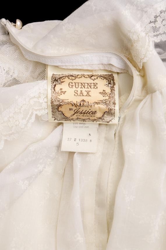 Gunne Sax Dress Vintage Women White Lace - image 10