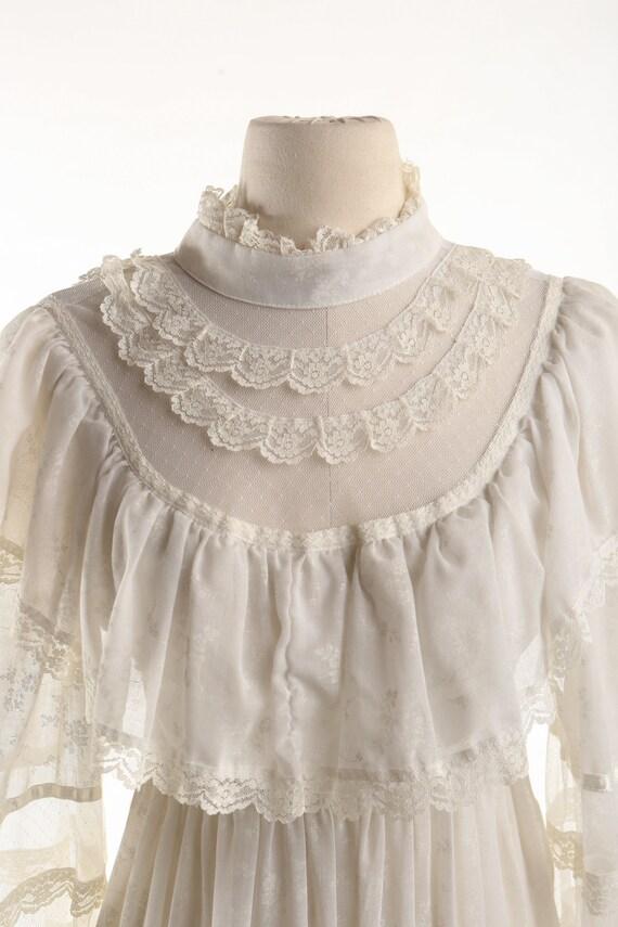 Gunne Sax Dress Vintage Women White Lace - image 2