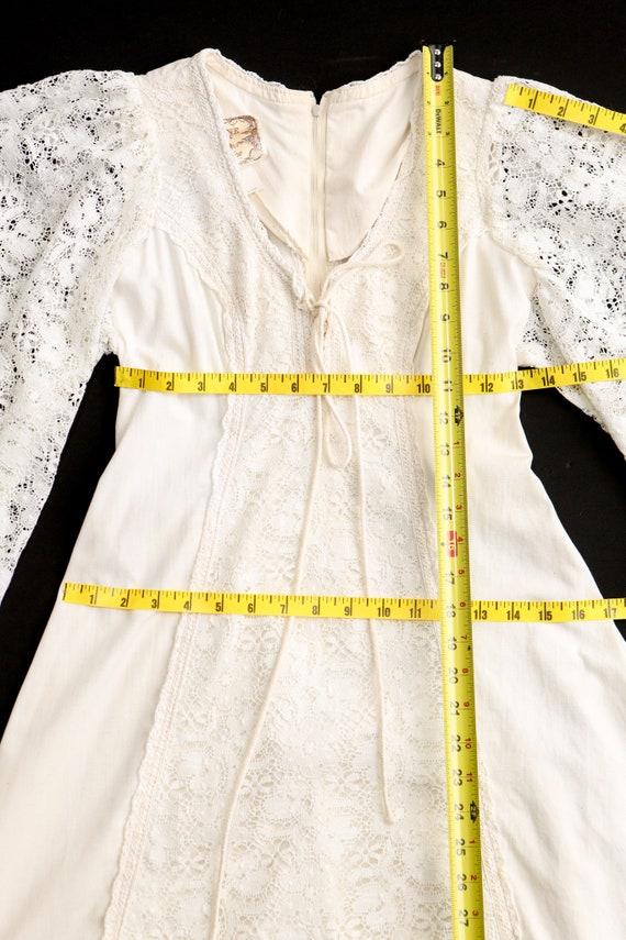 Gunne Sax Dress  Lace Sleeves Prairie Long Dress - image 5