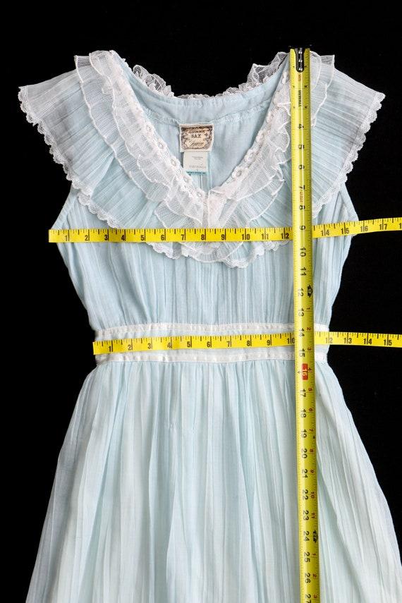 Gunne Sax Dress 70's Blue Prairie Sleeveless Long… - image 4