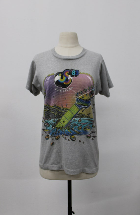 83 US Festival / Vintage Graphic T-shirt / Music F