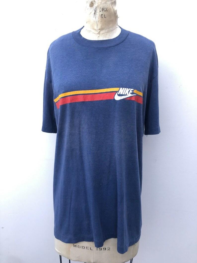 edf3d85388679 Vintage 80s Nike T Shirt Size XL