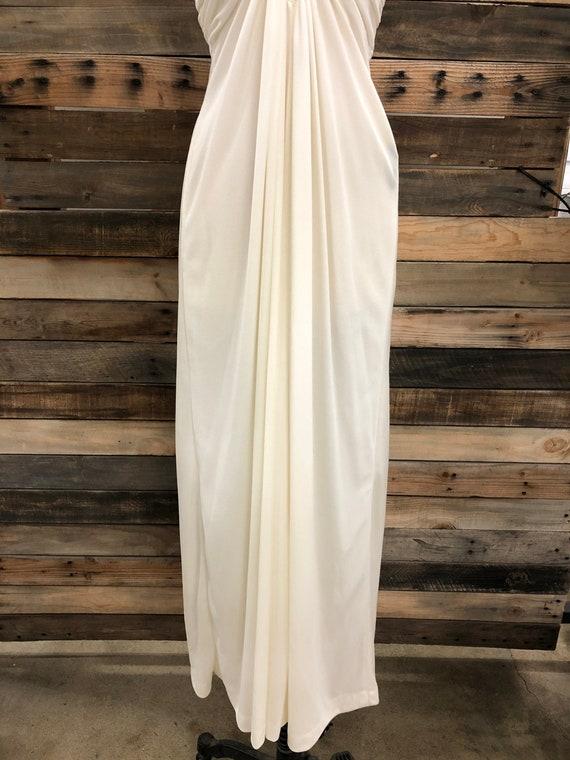 Women 70's Polyester Long Dress - image 7