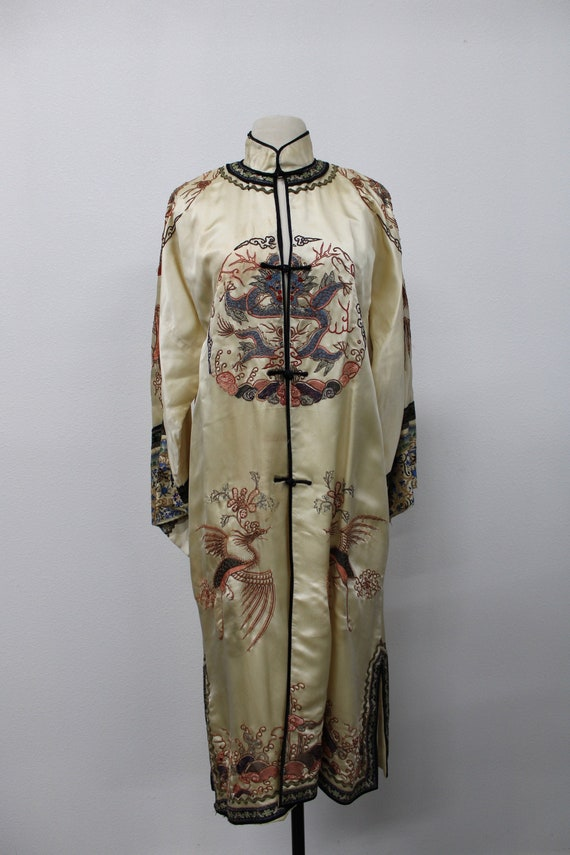 Vintage Embroidered Robe. Chinese Robe. Embroidere