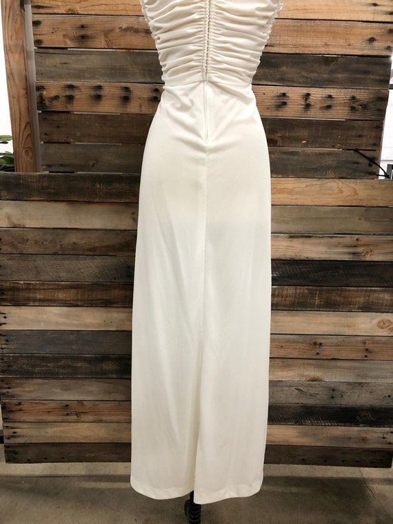 Women 70's Polyester Long Dress - image 6