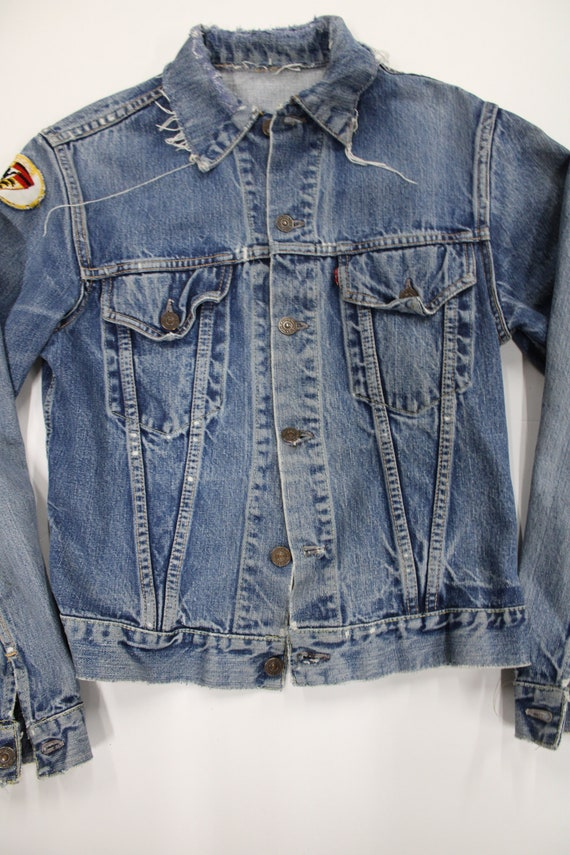 Levi's Big E Denim Jacket. Reconstructed Collar.