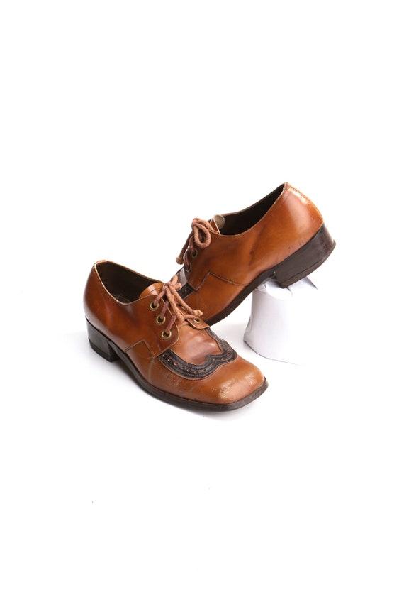 Men 60's - 70's Leather Lace Shoes