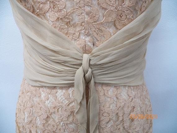 Women 50's Lace Evening Dress - image 5