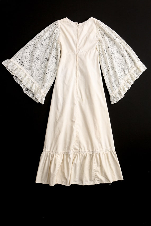 Gunne Sax Dress  Lace Sleeves Prairie Long Dress - image 6