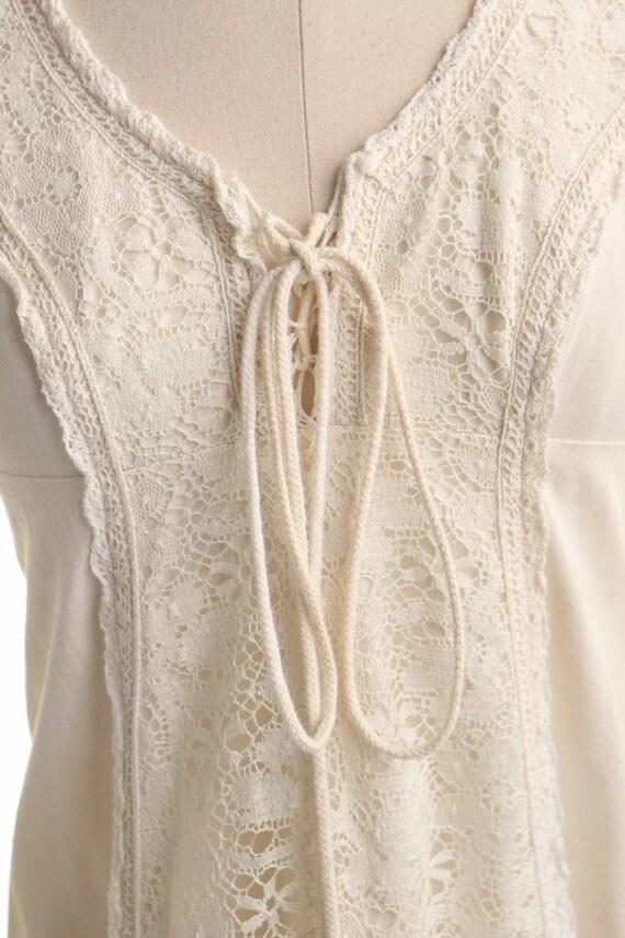 Gunne Sax Dress  Lace Sleeves Prairie Long Dress - image 2
