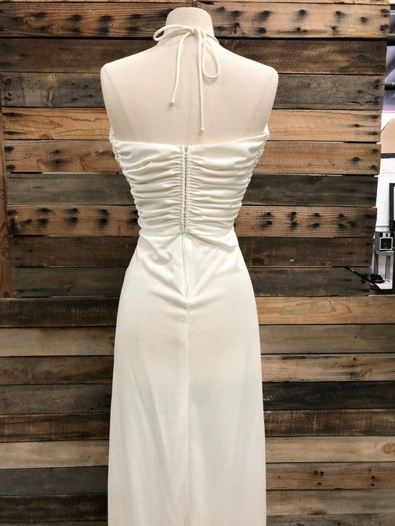 Women 70's Polyester Long Dress - image 4
