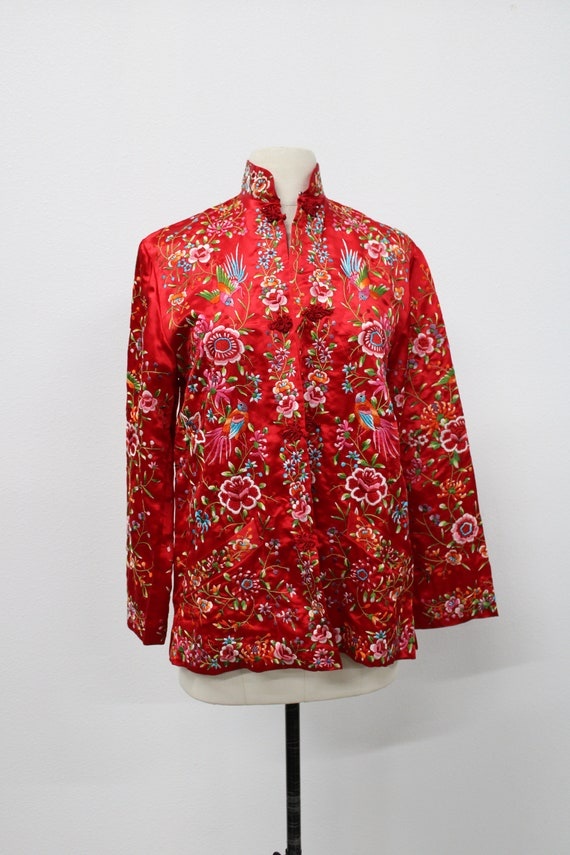 Women Cheongsam Embroidered Jacket / Chinese Embro