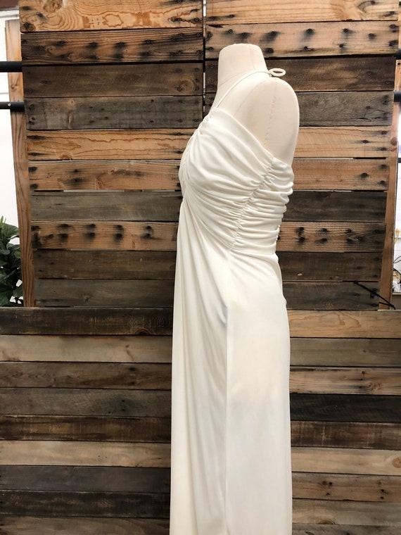 Women 70's Polyester Long Dress - image 5