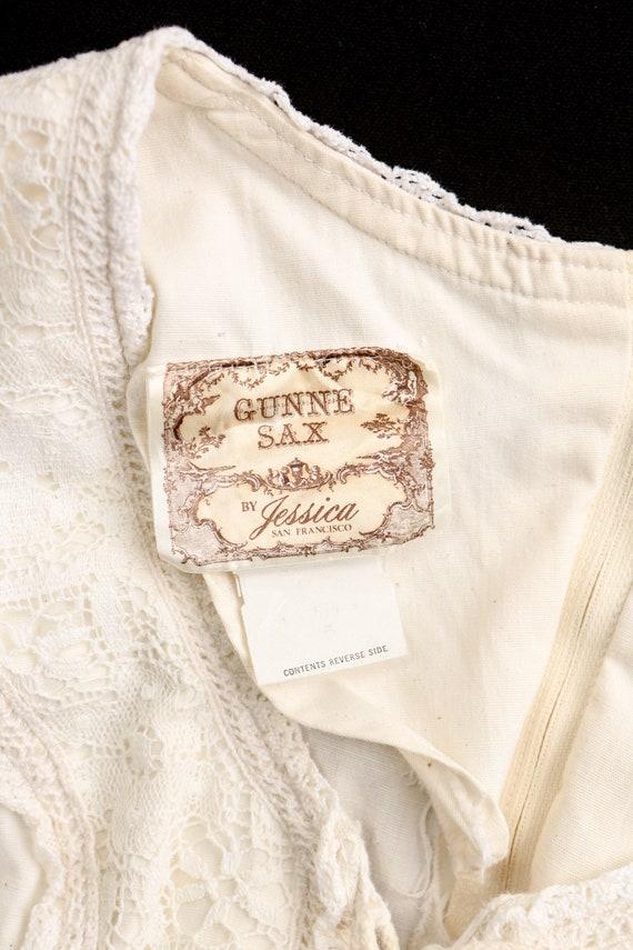 Gunne Sax Dress  Lace Sleeves Prairie Long Dress - image 8