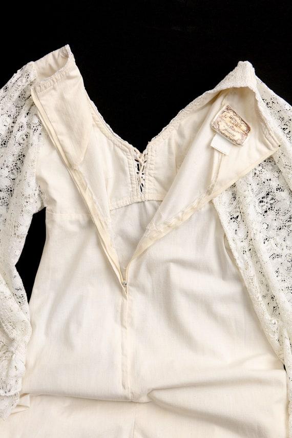 Gunne Sax Dress  Lace Sleeves Prairie Long Dress - image 7