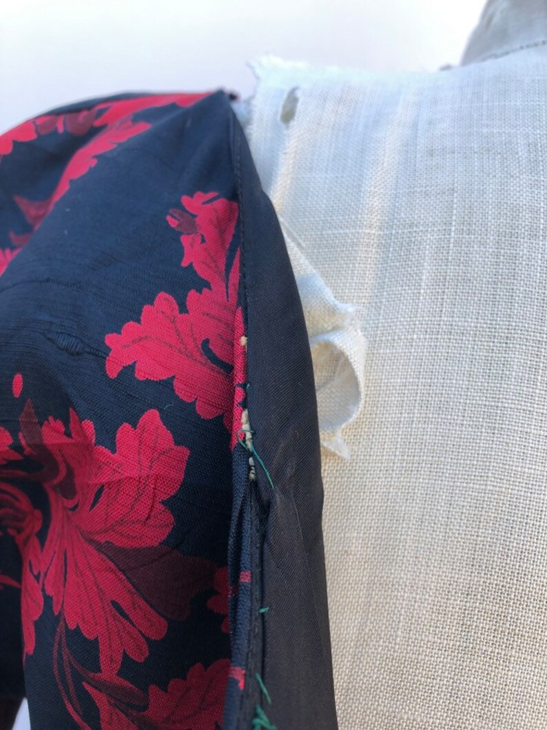 Vintage Red Wine Leaves Dress