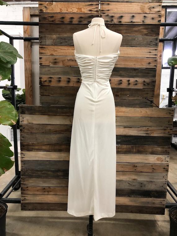 Women 70's Polyester Long Dress - image 3