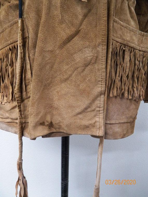 Women Suede Fringe Jacket - image 4