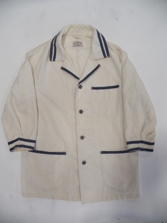 Armani Jeans White Denim Coverall Jacket