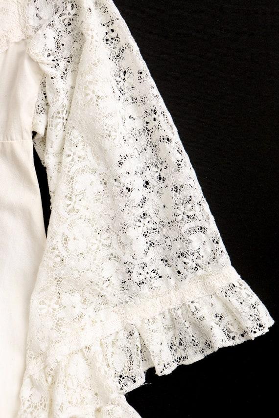 Gunne Sax Dress  Lace Sleeves Prairie Long Dress - image 9