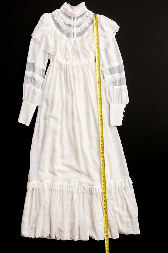 Gunne Sax Dress Vintage Women White Lace - image 7