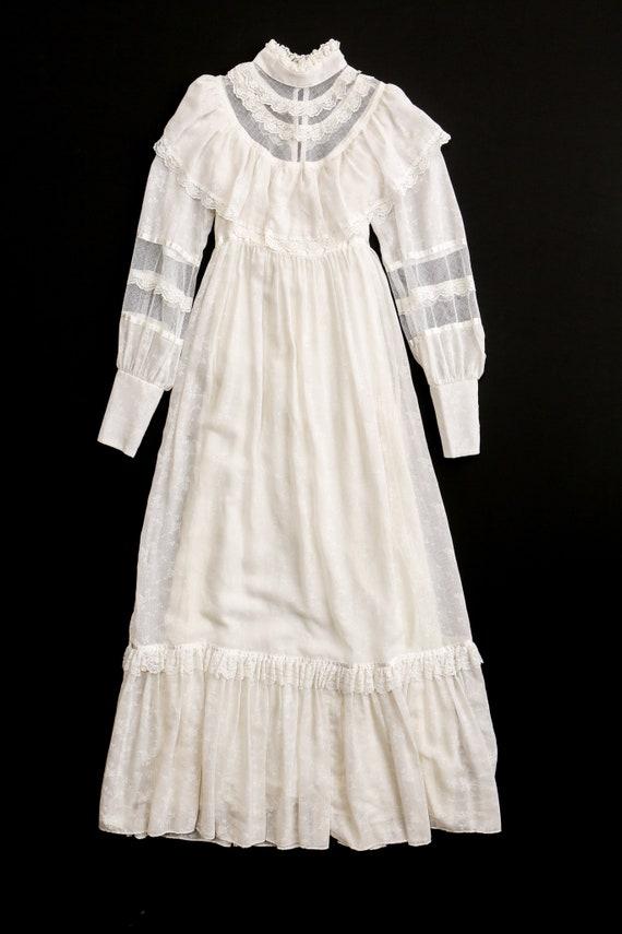 Gunne Sax Dress Vintage Women White Lace - image 4