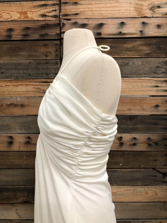 Women 70's Polyester Long Dress - image 8