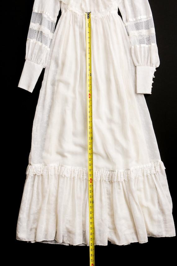 Gunne Sax Dress Vintage Women White Lace - image 8