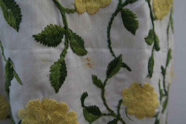 40s 50s Designer Vintage Embroidered Dress
