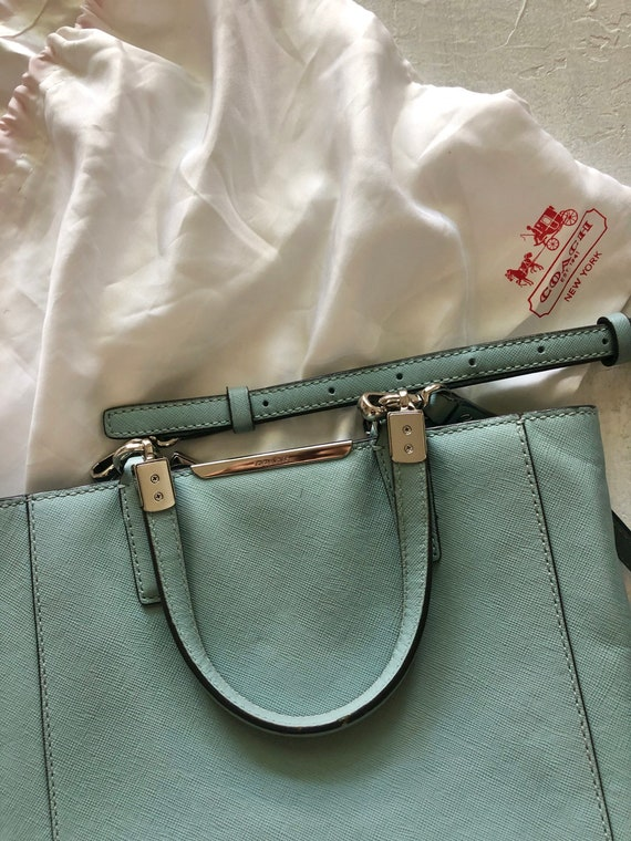 Coach light blue bag - rare leather purse - classi