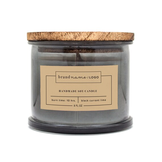 Custom Candle Label Labels For Cosmetics Labels For