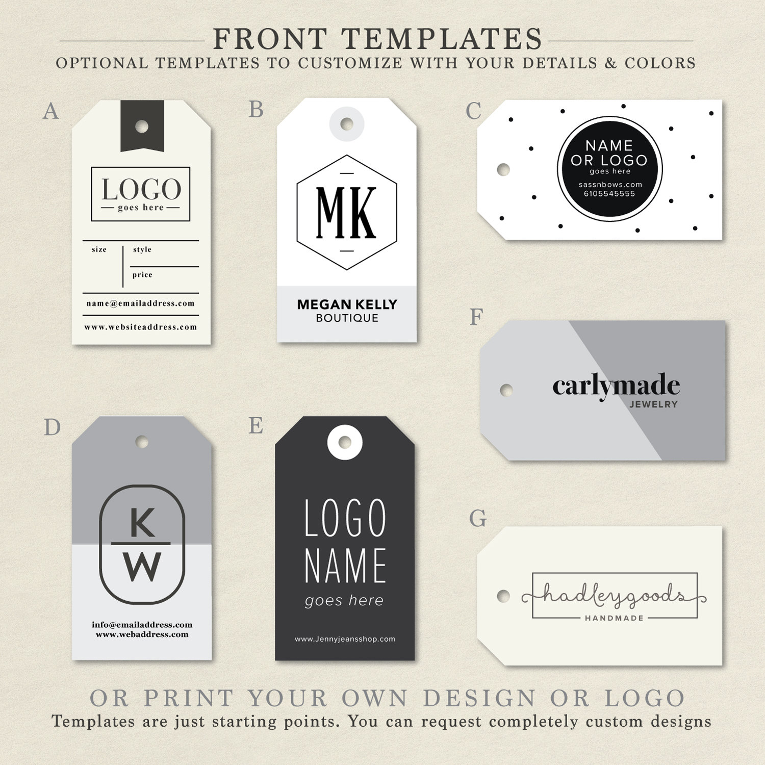 Custom Clothing Tags, Handmade Tag, Product Label, Business Tags ...